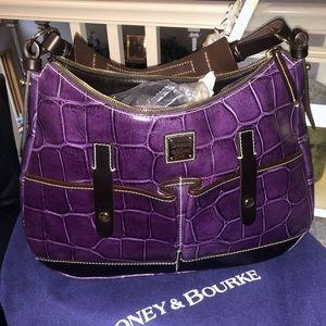 Purple Dooney and Bourke Medium Safari Purse